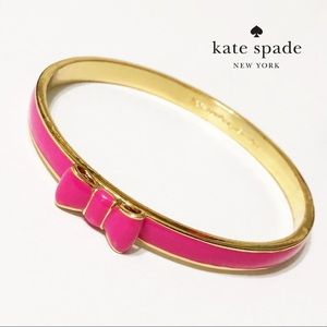 Kate Spade New York Take A Bow Hot Pink Bangle